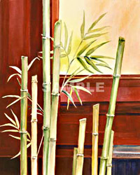 Bamboo in Red I and II